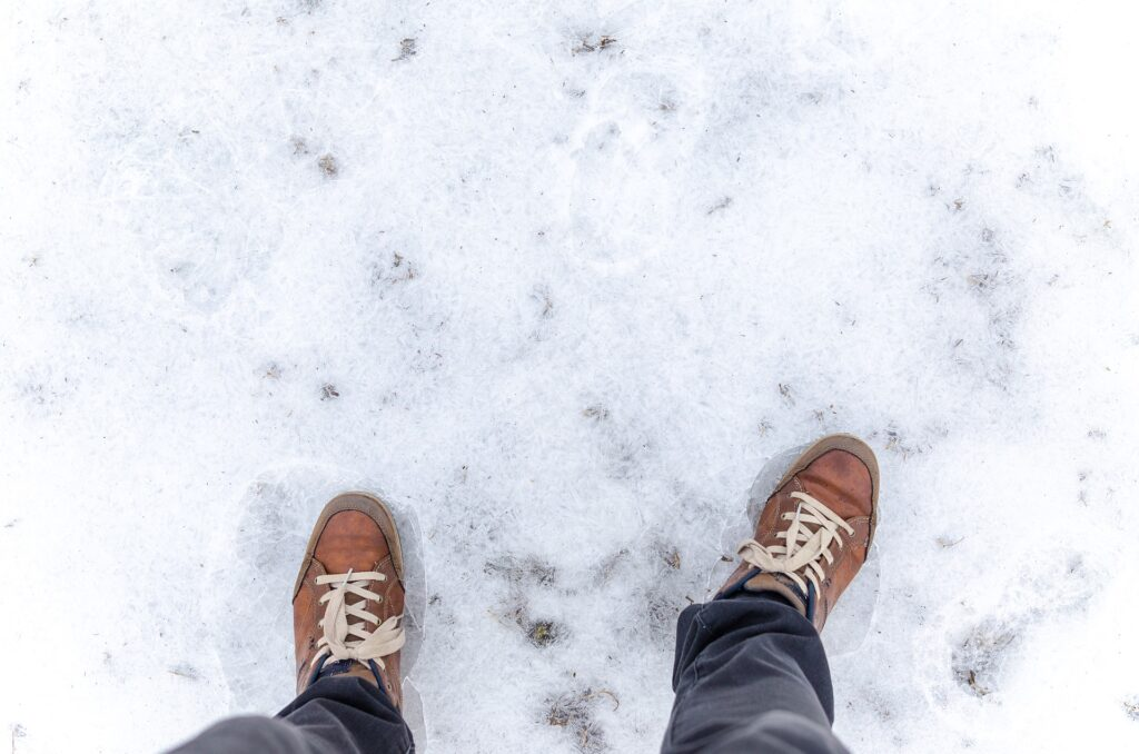 shoes in snow